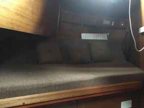 Back cabin slide out double bed