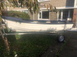 14ft O'Sullivan boat, 4hp and trailer.