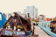 55ft Narrow Boat on residential morring in Canary Wharf