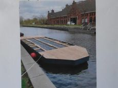 30m2 Pontoon  with cabin (cabin missing)