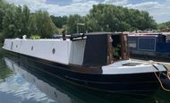 Gorgeous 60'  Mid Engine  Barroness moored at Roydon Marina Village