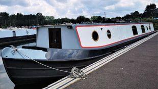 Envisage a Blue Water Widebeam with mooring option at Roydon Marina