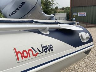 Honwave T35AE with Honda BF10D engine and trailer