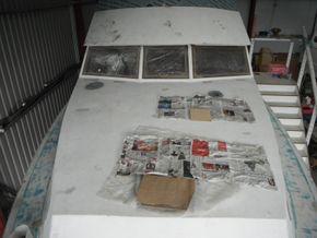 Steel hull (before)