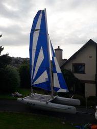 Dart 16 catamaran and trailer