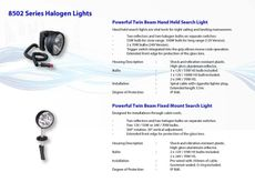 SEARCH LIGHTS FOR MARINE APPLICATION