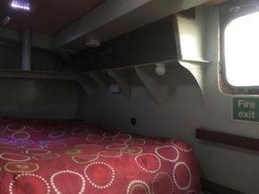 double bed, ships porthole