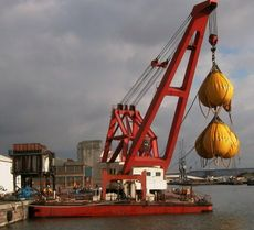 150ton floating crane