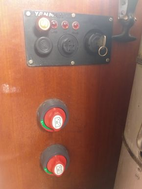 Batteries switches and engine control panel