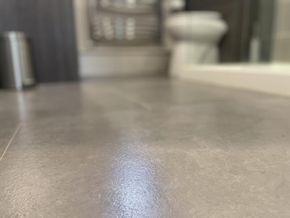 Warm bathroom flooring