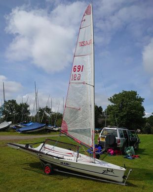 Blaze MK2 sail number 691