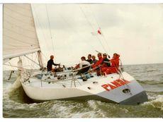 Racing yacht Panda by Ed Dubois.