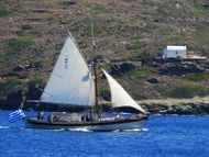 Traditional Greek sailboat