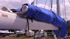 stackpack with Owen fully battend mainsail