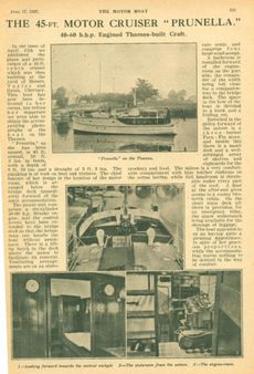 1927 Classic Taylor & bates Motor Yacht