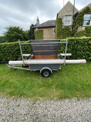 Dinghy transport trailer.