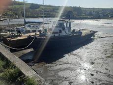 46ft ex army steel workboat