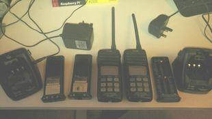 3 VHF Radios, 2 x ICOM M31 + 1 M401