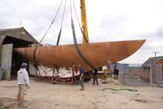 49ft Robert Clark Cutter steel hull fantastic project in progress