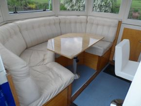 Wheelhouse leather seating
