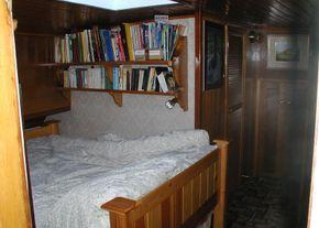 The bedroom is handily en suite with the bathroom
