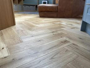 Individual herringbone oak flooring