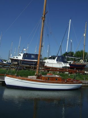 25ft gaff cutter