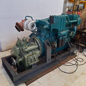 Volvo Penta TAD 121 CHC marine engine with transmission