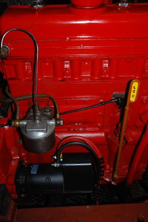 The DAF Engine from starboard