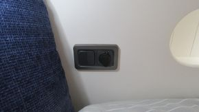 Bedroom light switches and charging point