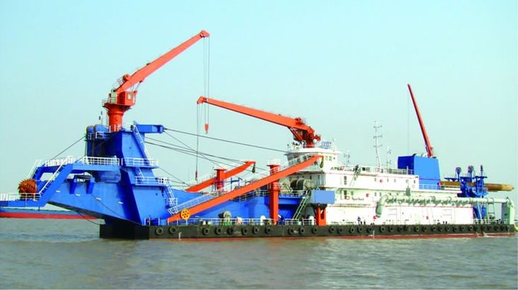 4,500m3  Non-propelled Cutter Suction Dredger