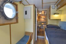 Fantastic converted ice breaking tug yacht Astra.