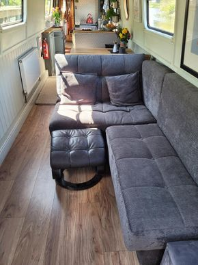 Seating converts to Double bed