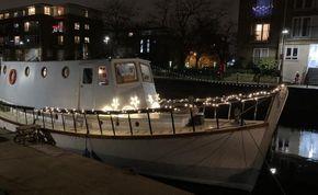 Christmas 2020 during the marina's Christmas lights festival