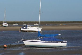 Hawk 20 dayboat in North Norfolk.