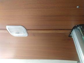 LED cabin lighting & teak head lining