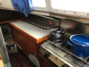 Galley, stove and storage