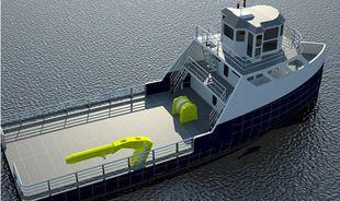 24 Meter Steel Supply Boat With Deck Crane