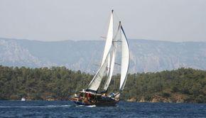 Full sail, wishbone up