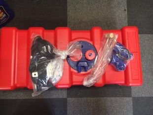 70 litre inboard fuel tank with gauge, fixing strap & filling kit
