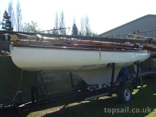 1953 Yare & Bure One Design (White Boat) with trailer