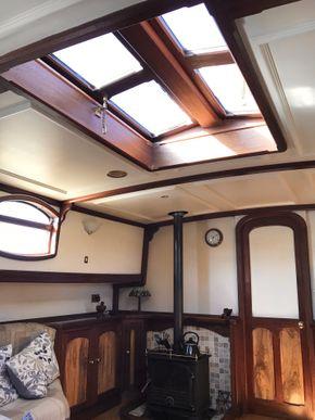 Skylight hatch in living room