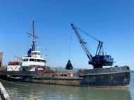 1973 Dredger - Grab Hopper Dredger For Sale