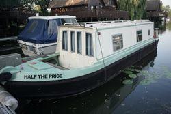 2004 Sea Otter narrowboat aluminium hull 31ft - Valarie