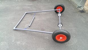 Optimist Dinghy storage and launch trolley