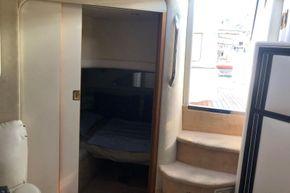 Aft cabin with sliding door