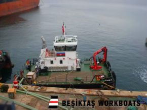 15 Meter Workboat with deck crane and large deck capacity