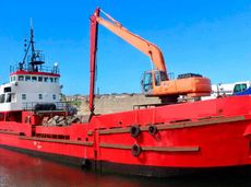 1971 Dredger - Grab Hopper Dredger For Sale
