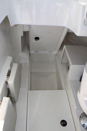 Underfloor storage lockers