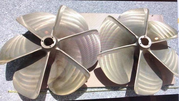 Set of RH-LH, 29″ x 30.7″, 6 Blade, 3″ Bore, Nibral, Ellis Propellers